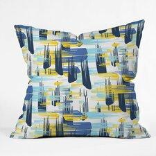 Zoe Wodarz Indigo Ikat Polyester Throw Pillow