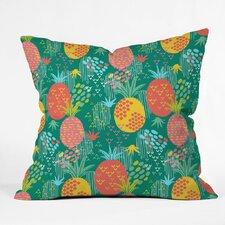 Zoe Wodarz Day Pineapple Polyester Throw Pillow