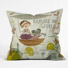 Sabine Reinhart Explore The World Polyester Throw Pillow