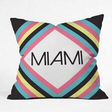 Zoe Wodarz Miami Marquee Polyester Throw Pillow