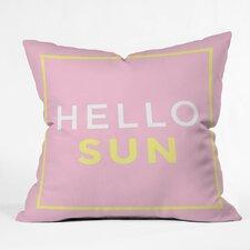 Zoe Wodarz Hello Sun Polyester Throw Pillow