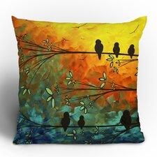 Madart Inc. Birds Of A Feather Throw Pillow