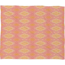 Cori Dantini Orange Ikat 4 Throw Blanket