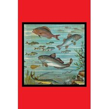 'Fish Pond 2' Painting Print
