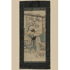 'Courtesan Reading A Letter (Fumi Yomu Yujo )' by Kiyomitsu Torii Wall Art