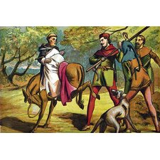 'Friar Tuck on The Reverse Side of A Bucking Donkey' by Kronheim and Dalziels Painting Print