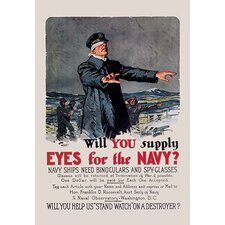 'Will You Supply Eyes for the Navy?' by Gordon Grant Vintage Advertisement