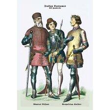 Italian Costumes: Neopolitan Soldiers Painting Print