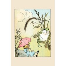 'Marian the Freckled Frog and the Doll' by Frances Beem Painting Print