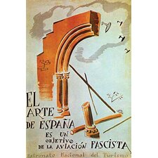 'The Art of Spain is A Target of The Fascist Air Force.' by Gaya Vintage Advertisement