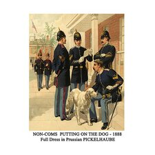 'Non-Coms Putting on The Dog 1888 Full Dress' by Henry Alexander Ogden Graphic Art