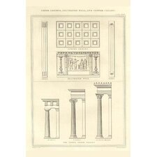 'Greek Columns Decorated Walls and Coffer Ceilings' by Richard Brown Vintage Advertisement