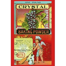'Crystal Baking Powder' by Saint Louis Label Works Vintage Advertisement
