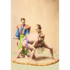 Sumo Wrestlers by Imperial Art School of Japan Photographic Print