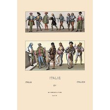 Military and Civil Costumes' by Auguste Racinet Graphic Art