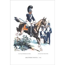 'Organized Militia, 1885' Painting Print