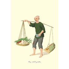 Boy with Vegetables by George Henry Malon Painting Print