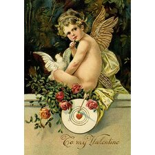Angel Girl with Dove Painting Print