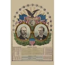 'National Republican Chart 1876' by H. H. Lloyd Wall Art