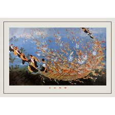 'Commerce Fish Pond' by Tung Chen Yi Painting Print