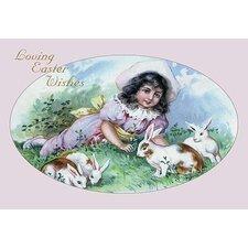 Easter Girl Painting Print