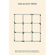 'The Match Trick 2 Perfect Squares' by Harry Houdini Wall Art
