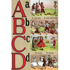 'A, B, C, D Illustrated Letters' by Edmund Evans Wall Art
