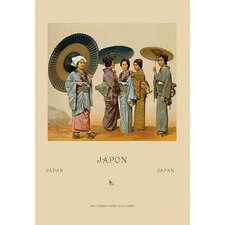 Traditional Japanese Women by Auguste Racinet Graphic Art