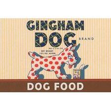 'Gingham Dog' Wall Art