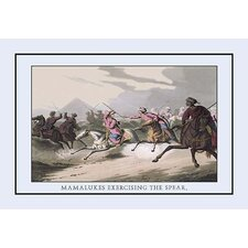 Mamalukes Exercising the Spear by J.H. Clark Painting Print