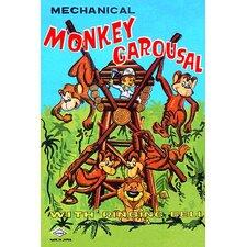 'Mechanical Monkey Carousal' Wall Art
