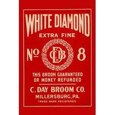 'White Diamond Extra Fine Boom Label' Vintage Advertisement