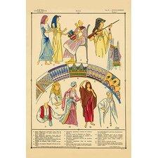 'Modern Egyptian Feminine Costume Bustes' by Racinet Graphic Art