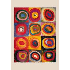 'Squares with Concentric Rings' by Wassily Kandinsky Wall Art