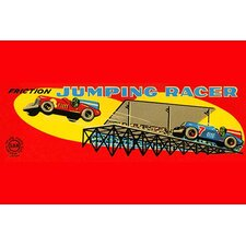 'Jumping Racer' Vintage Advertisement