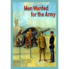 'Men Wanted for the Army' by Michael P. Whelan Vintage Advertisement