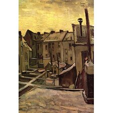 'Backyards of Old Houses in Antwerp in the Snow' by Vincent Van Gogh Painting Print