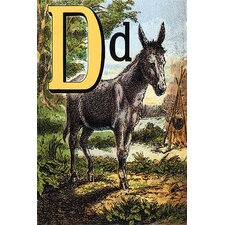 'D for the Donkey with a Cross on His Back' by Edmund Evans Graphic Art
