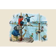 'Up the Rigging the Monkeys Ran' by G.H. Thompson Wall Art