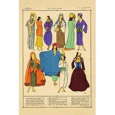 'Modern Egyptian Feminine Costume' by Racinet Graphic Art