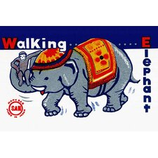 'Walking Elephant' Wall Art