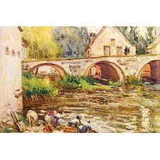 'The Laundresses By Moret By Alfred Sisley.Jpg' by Alfred Sisley Painting Print