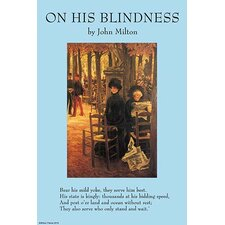 'On His Blindness' by John Milton Wall Art