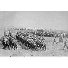 'Tsarist Troops Parade and Pass in Review in Formation Across Field' Photographic Print