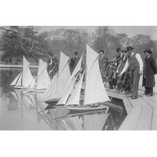 'Toy Yachts Are The Pride of Central Park Enthusiasts' Photographic Print