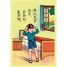 'Putting on New Clothes for Children's Day' Wall Art