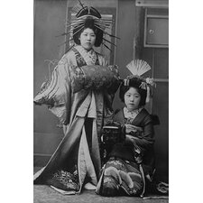 'Two Young Beautiful Japanese Geishas Accoutered' Photographic Print