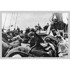'Immigrant Women Sitting on Steerage Deck' Photographic Print
