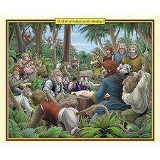 'A Tribe of Indian Scribe Monkeys' by Richard Kelly Wall Art
