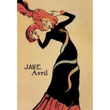 'Jane Avril' by Toulouse - Lautrec Vintage Advertisement